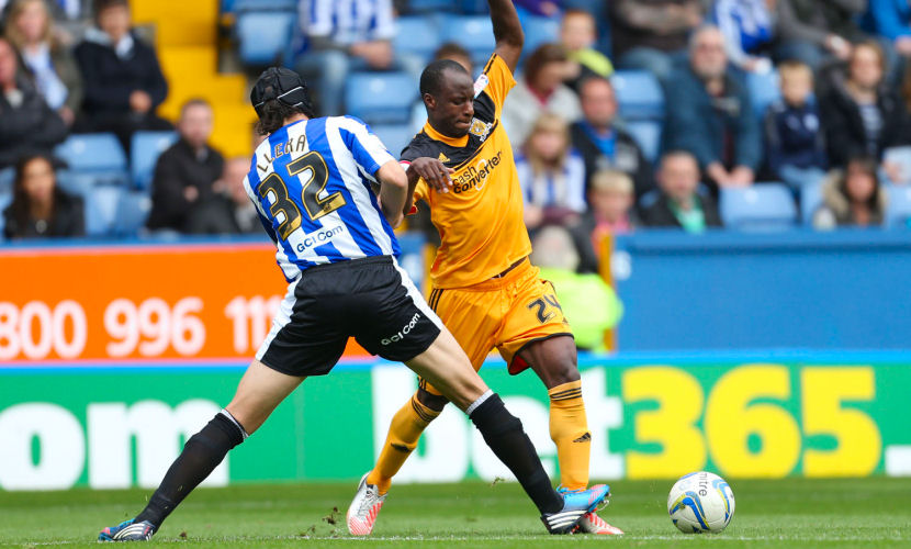 "Football - Sheffield Wednesday v Hull City - npower Football League Championship - Hillsborough - 12/13 , 6/10/12 Sone Aluko - Hull City in action Mandatory Credit: Action Images / John Clifton EDITORIAL USE ONLY. No use with unauthorized audio, video, data, fixture lists, club/league logos or ""live"" services. Online in-match use limited to 45 images, no video emulation. No use in betting, games or single club/league/player publications. Please contact your account representative for further details."